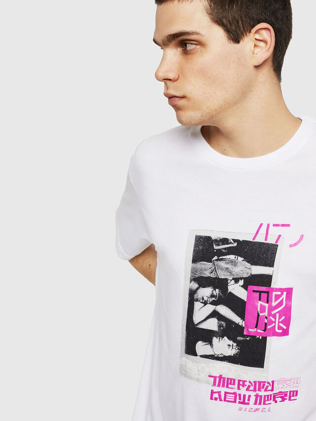 Diesel - T-JUST-Y21, White - T-Shirts - Image 3