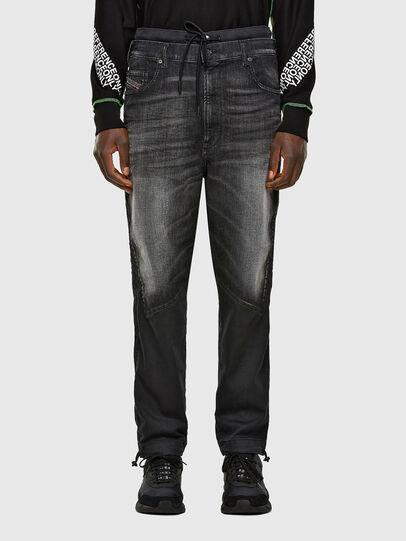 Diesel - D-Skint JoggJeans® 069PC, Black/Dark grey - Jeans - Image 1