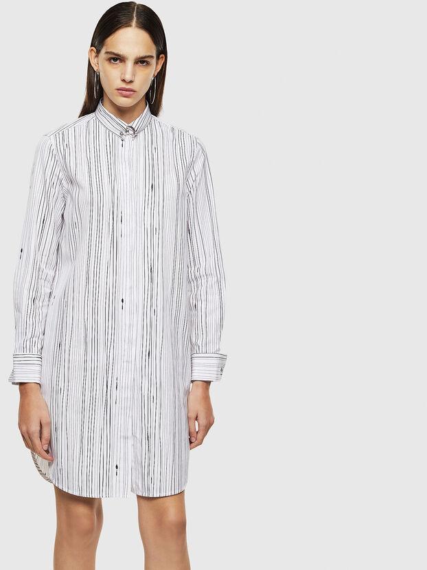 D-RAILY-LONG-A, White/Black - Dresses