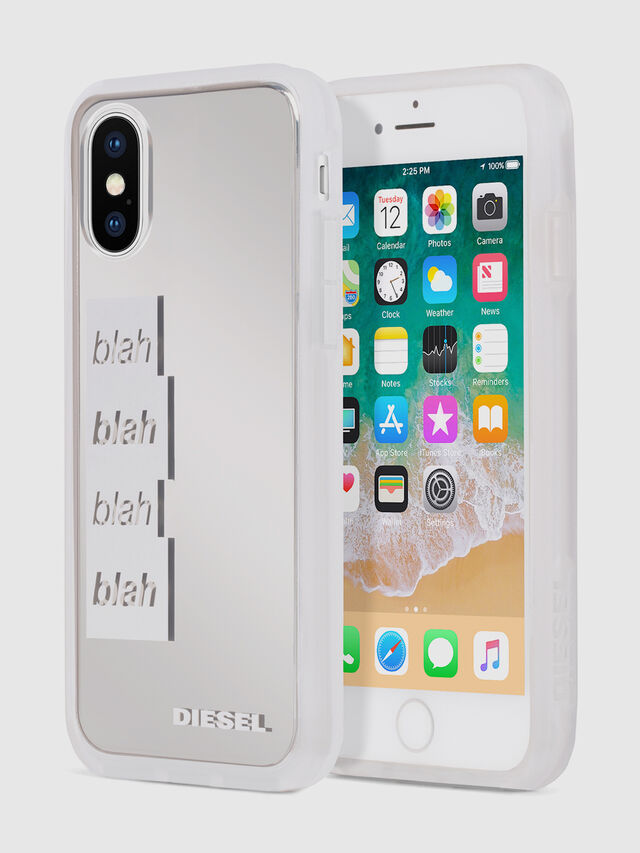 Diesel - BLAH BLAH BLAH IPHONE X CASE, White - Cases - Image 1