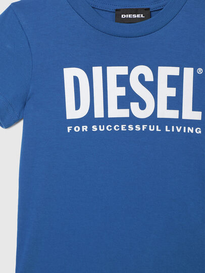 Diesel - TJUSTLOGOB-R, Blue - T-shirts and Tops - Image 3
