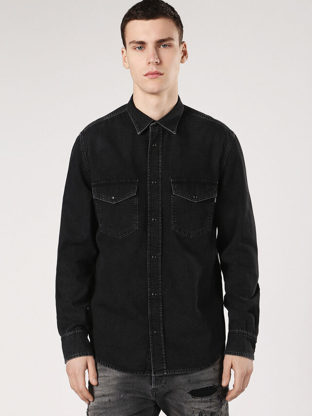 Diesel - D-ROOKE, Black Jeans - Denim Shirts - Image 1