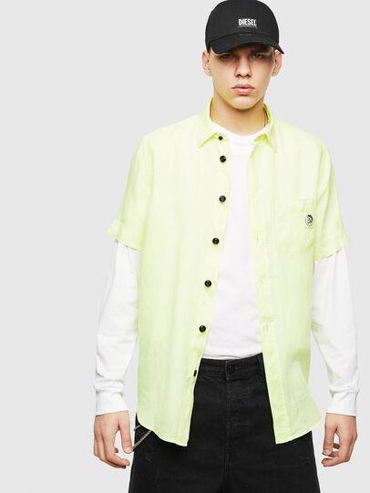 Diesel - S-KIRUMA-B, Yellow Fluo - Shirts - Image 5