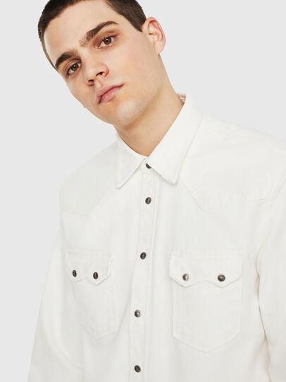 Diesel - D-LEO, White - Denim Shirts - Image 3