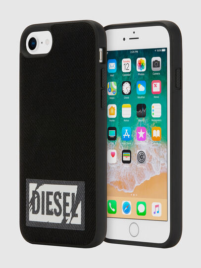 Diesel - BLACK DENIM IPHONE 8/7/6S/6 CASE, Black - Cases - Image 1