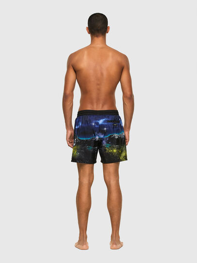Diesel - BMBX-WAVE 2.017, Black/Blue - Swim shorts - Image 2
