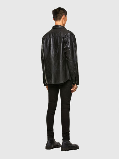 Diesel - L-BROWN, Black - Leather jackets - Image 6