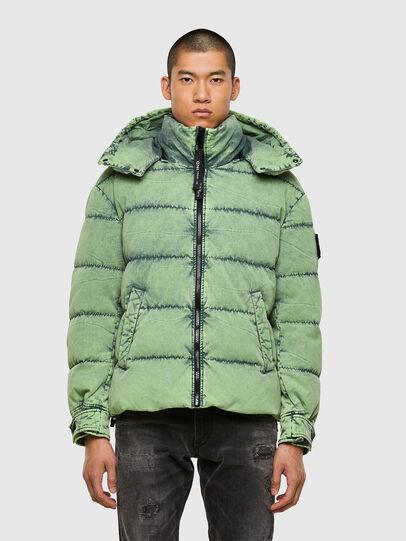 Diesel - W-EVACID, Green Fluo - Winter Jackets - Image 1