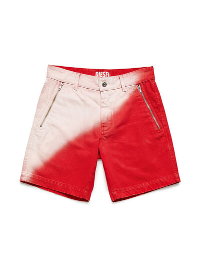 Diesel - GR02-P303, Red/White - Shorts - Image 1