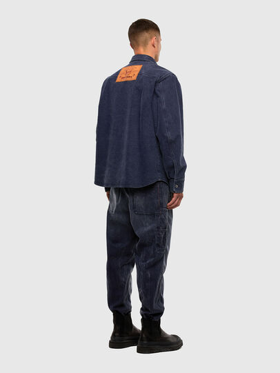 Diesel - D-VERSO, Dark Blue - Denim Shirts - Image 6