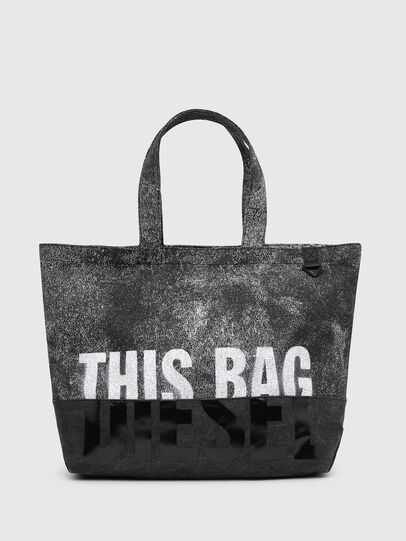 Diesel - D-THISBAG SHOP MB, Gray/Black - Shopping and Shoulder Bags - Image 1