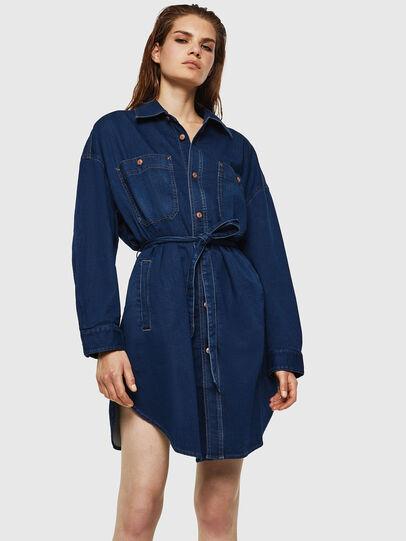 Diesel - D-PINKIES JOGGJEANS, Medium blue - Dresses - Image 1