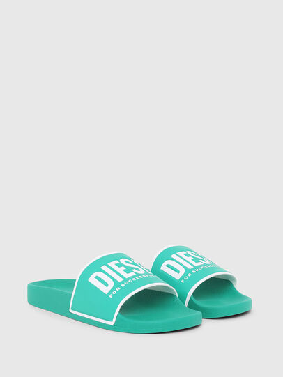 Diesel - SA-VALLA, Green - Slippers - Image 2