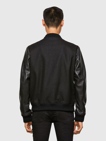 Diesel - L-ROGER, Black - Leather jackets - Image 2