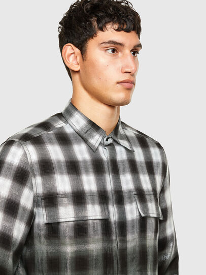 Diesel - S-KEITH, Black/White - Shirts - Image 3