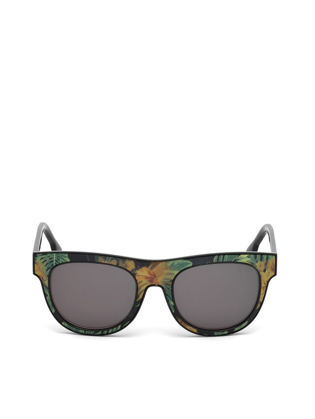Diesel - DM0160, Black/Orange - Sunglasses - Image 1