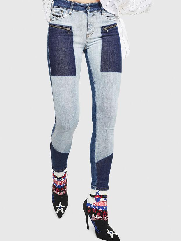 Slandy Zip 0890L, Medium blue - Jeans