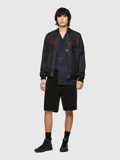 Diesel - D-STRUKT-SHORT, Black/Dark grey - Shorts - Image 5