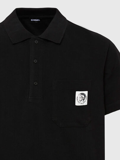 Diesel - T-POLO-WORKY, Black - Polos - Image 3