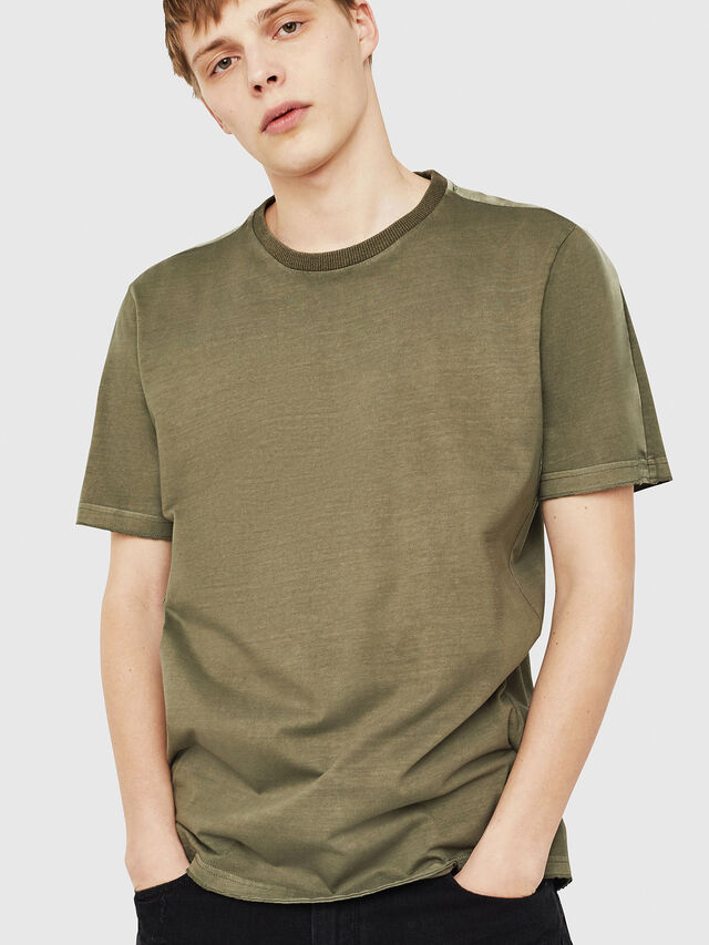 Diesel - T-MIX, Military Green - T-Shirts - Image 4