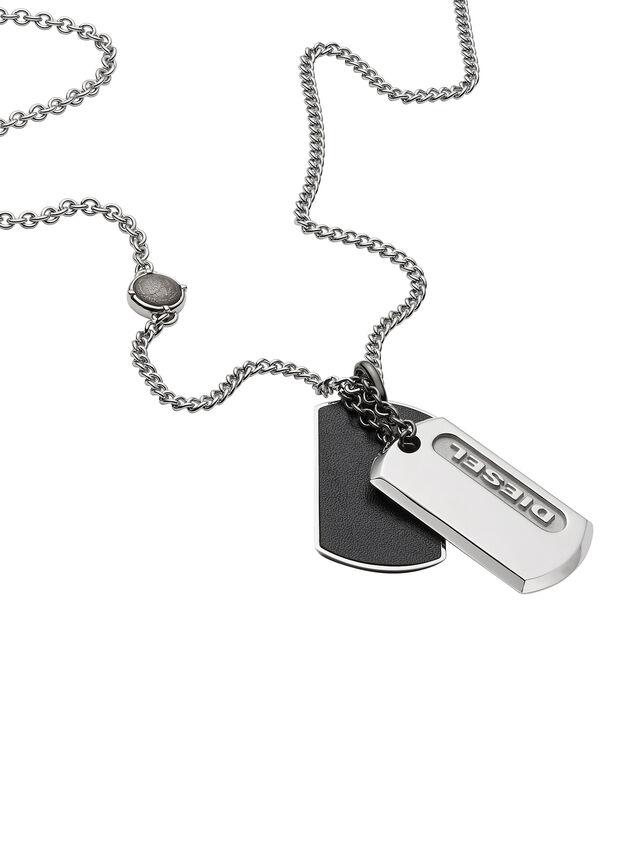 Diesel - NECKLACE DX0954, Silver - Necklaces - Image 2