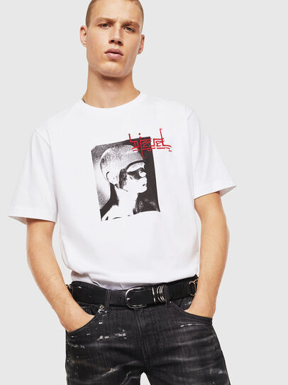 Diesel - T-JUST-J21, White - T-Shirts - Image 4