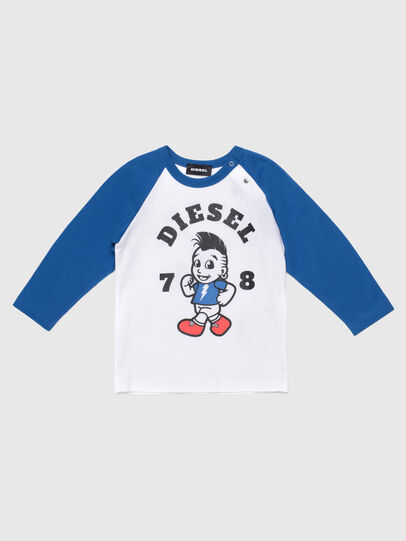 Diesel - TORAB, White/Blue - T-shirts and Tops - Image 1