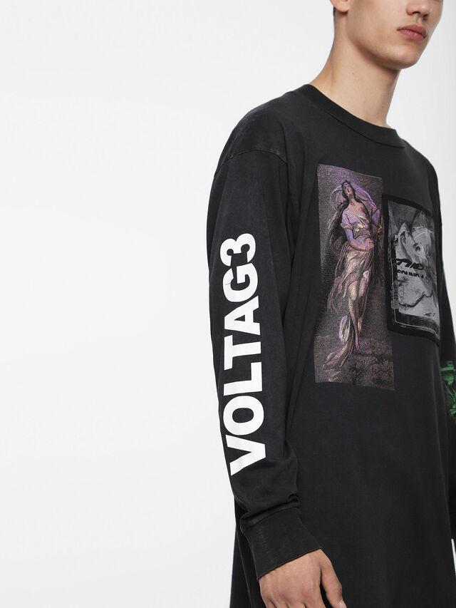 Diesel T-LUCAS-LS-XF, Black - T-Shirts - Image 3
