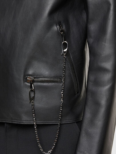 Diesel - L-LIAM, Black - Leather jackets - Image 4