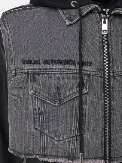 Diesel - L-IVAN, Black - Leather jackets - Image 4