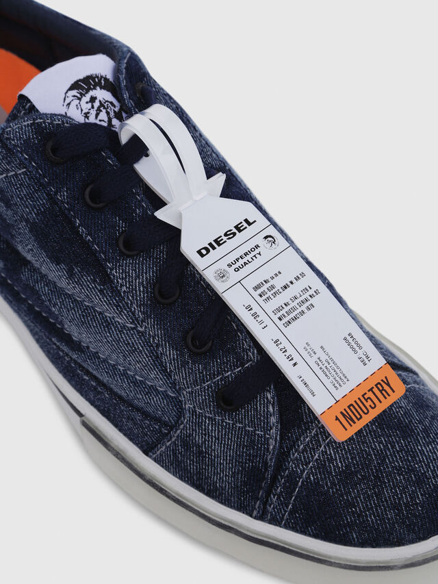 Diesel - D-VELOWS LOW PATCH, Blue Jeans - Sneakers - Image 5