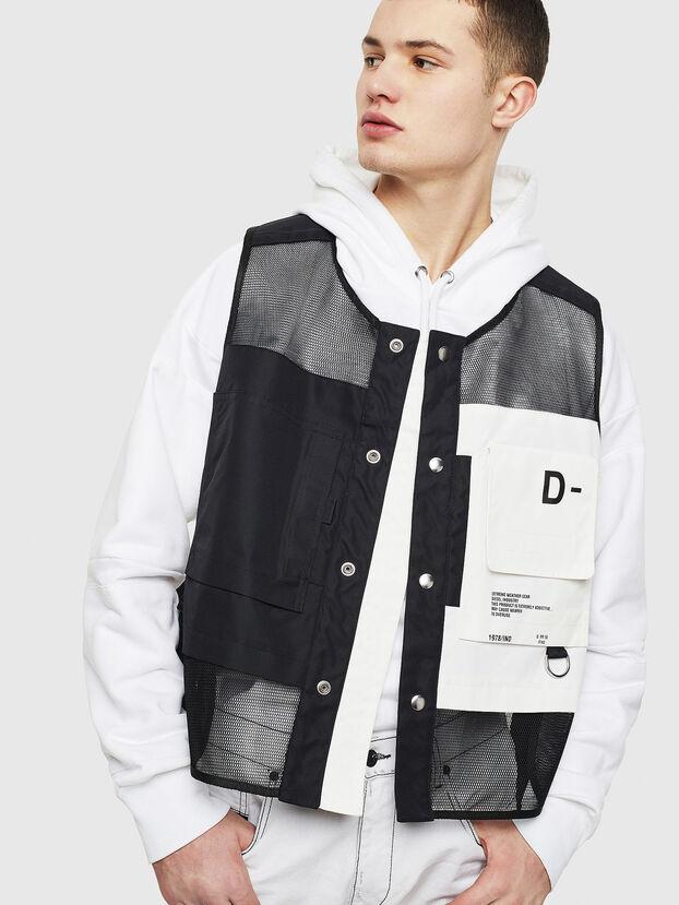 J-FISHMESH, Black/White - Jackets