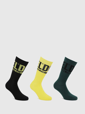 SKM-RAY-THREEPACK, Black/Yellow - Socks