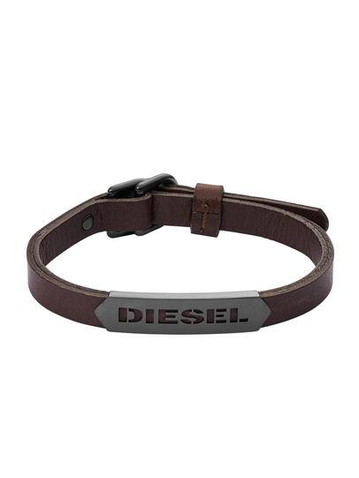 Diesel - BRACELET DX1000, Brown - Bracelets - Image 1