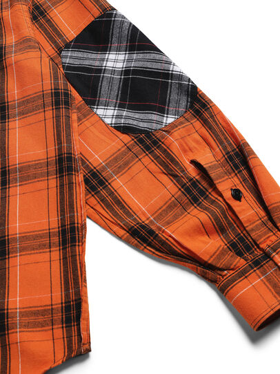Diesel - D-ANORACHECK, Orange - Shirts - Image 5