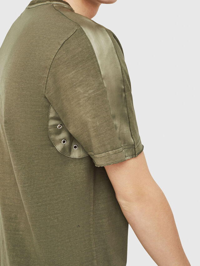 Diesel - T-MIX, Military Green - T-Shirts - Image 3