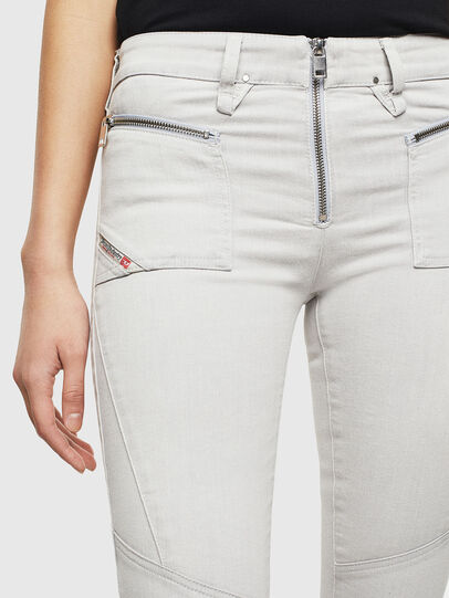 Diesel - Slandy 0097F, Light Grey - Jeans - Image 3