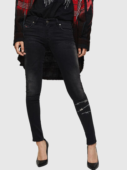Diesel - Slandy Low 069GH, Black/Dark grey - Jeans - Image 1