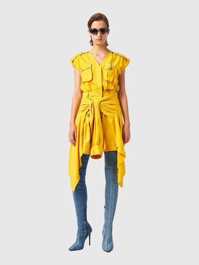 Diesel - D-GIUDITTA, Yellow - Dresses - Image 1