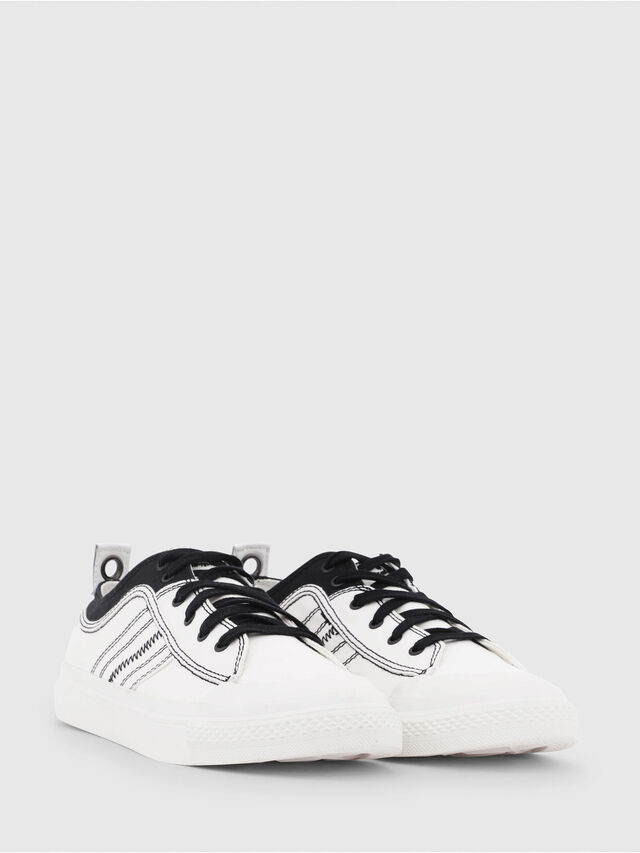 Diesel - S-ASTICO LOW LACE, White/Black - Sneakers - Image 2