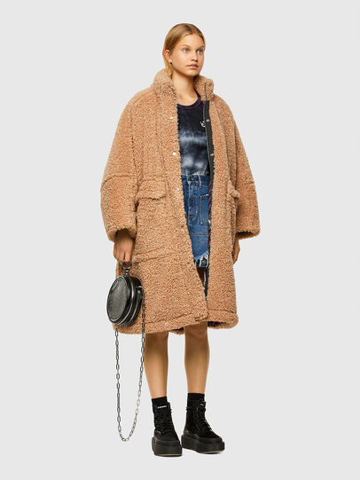 Diesel - L-TAKY, Light Brown - Leather jackets - Image 6