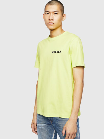 Diesel - T-JUST-B31, Yellow Fluo - T-Shirts - Image 1