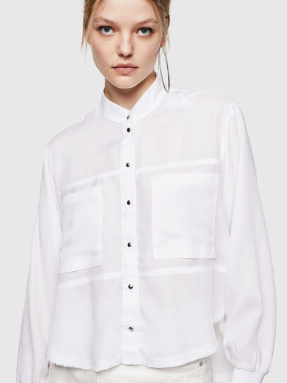 Diesel - C-SUPER-E, White - Shirts - Image 1
