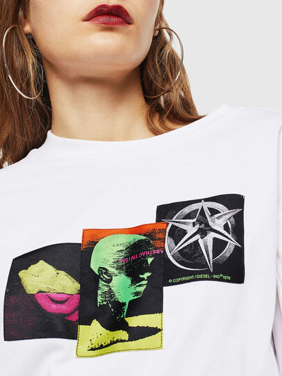 Diesel - T-GLYNIS-J1, White - T-Shirts - Image 4