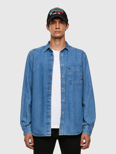 Diesel - D-BILLY, Light Blue - Denim Shirts - Image 4