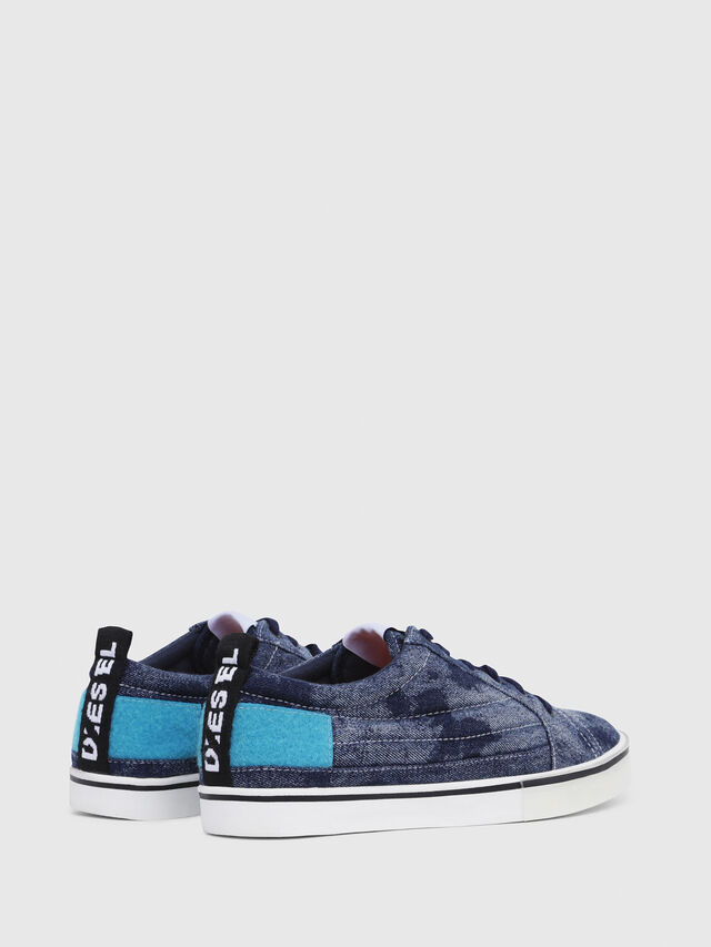 Diesel - D-VELOWS LOW PATCH, Blue Jeans - Sneakers - Image 3
