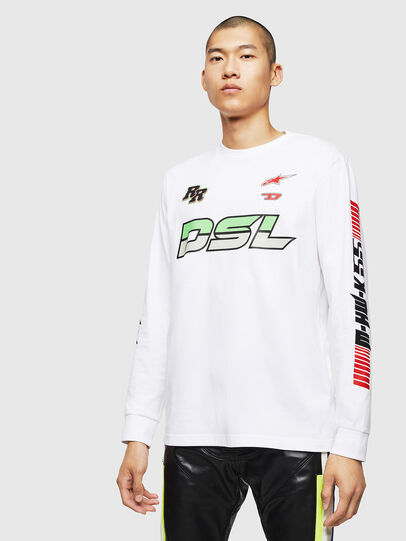 Diesel - ASTARS-T-JUST-LONG, White - T-Shirts - Image 1