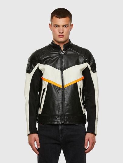 Diesel - ASTARS-LDUE-B, Black - Leather jackets - Image 1