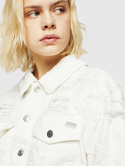Diesel - DE-CATE, White - Denim Jackets - Image 5