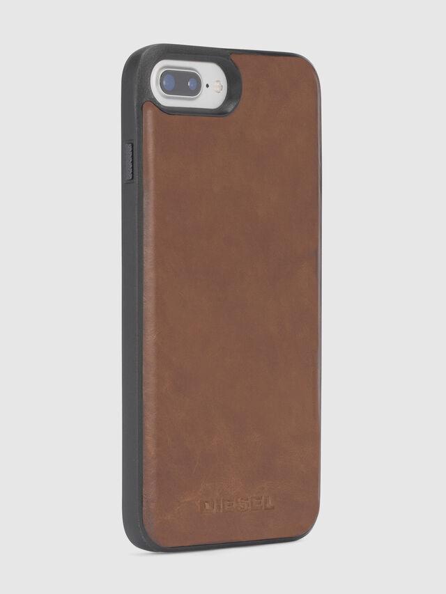 Diesel - BROWN LEATHER IPHONE 8 PLUS/7 PLUS/6s PLUS/6 PLUS CASE, Brown - Cases - Image 4